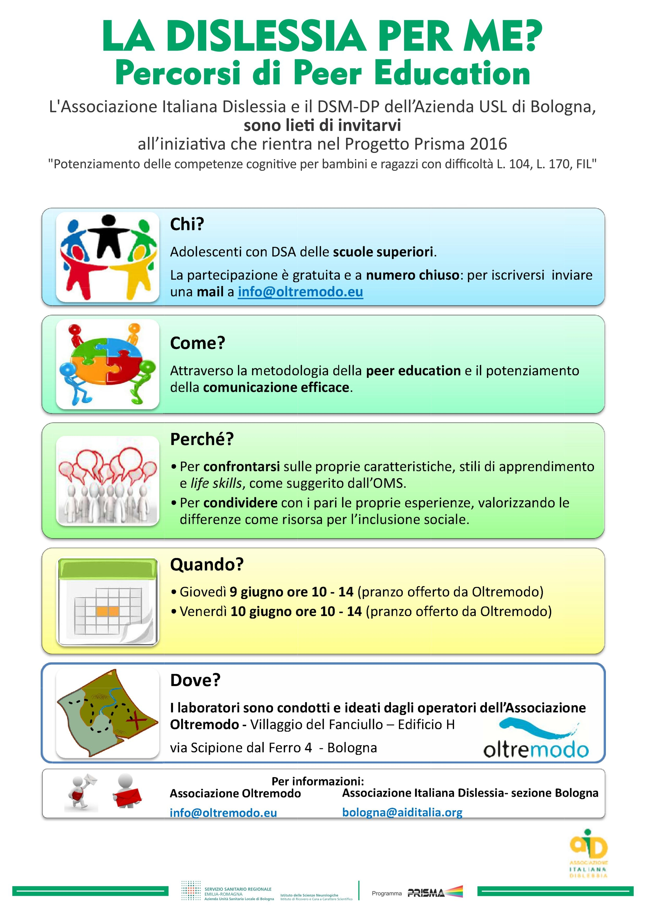 percorsi peer education oltremodo